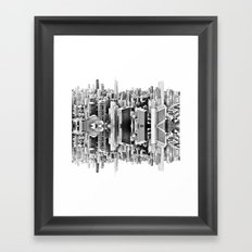 Mirror City Framed Art Print
