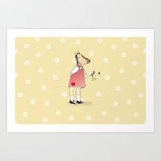 Little Horse Girl Art Print