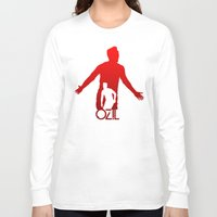 arsenal Long Sleeve T-shirts featuring Mesut Ozil by Sport_Designs