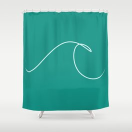 Artists Wave Shower Curtain