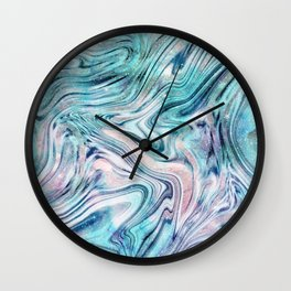 Bohemian Unicorn Marble Dream #2 #pastel #decor #art #society6 Wall Clock