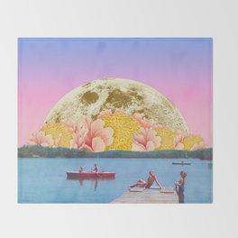 Pink lake Throw Blanket