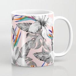Monochrome tropic floral Coffee Mug