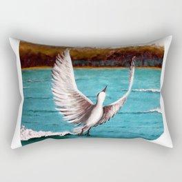 Taking off bird Rectangular Pillow