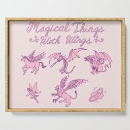 Magical Things With Wings Serving Tray