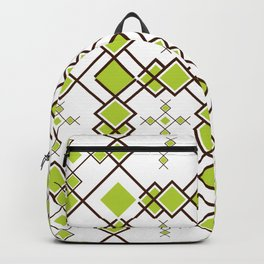 Box Repeat Pattern Backpack