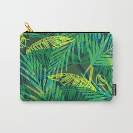 EXOTIC TROPICAL GREEN PALM CLUSTER PATTERN Carry-All Pouch