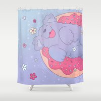 donut Shower Curtains featuring Donut by Nandi Appleby