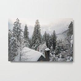 Snowy Mountain Metal Print