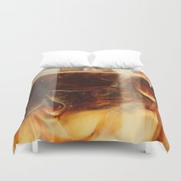 Magic of Ice Cafe Latte Coffee Duvet Cover