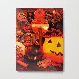 Vintage Halloween Glow Metal Print