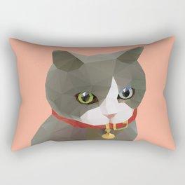 Kitten Polygon Art Rectangular Pillow