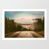 the mountains are calling Art Prints featuring the mountains are calling by Leanne Taylor Collection