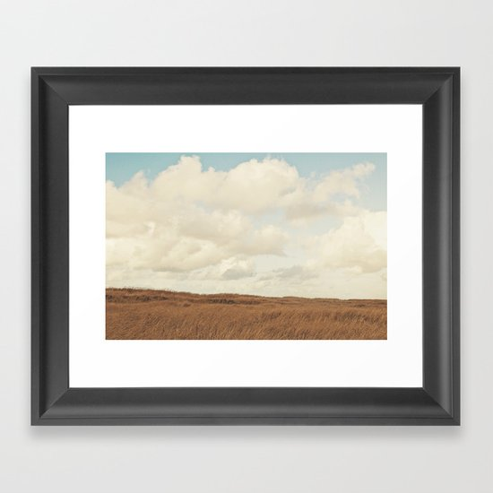 Clouds over the Field Framed Art Print