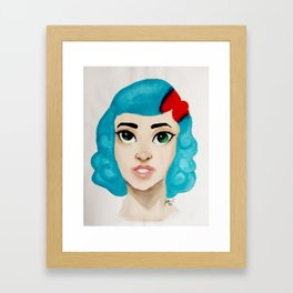 Valerie Front Facing Framed Art Print