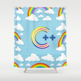 C++ PROGRAMMING, FOR COMPUTER CODING / DEVELOPERS Shower Curtain
