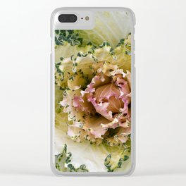 Curly to the Core - Winter Cabbage Clear iPhone Case