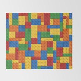 Lego bricks Throw Blanket