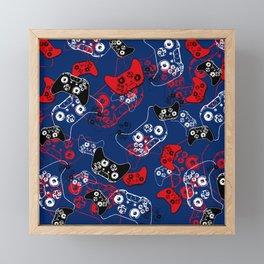 Video Game Red White & Blue 1 Framed Mini Art Print