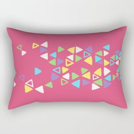 Contemporary Triangles Pattern Rectangular Pillow