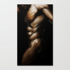Skin and Light: Man Canvas Print