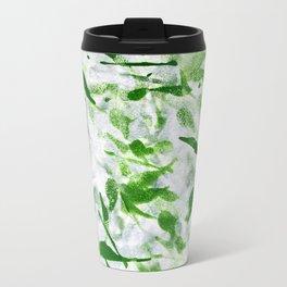 Green Abstract Pattern Travel Mug