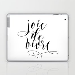 JOIE DE VIVRE, French Quote, French Poster, Inspirational Quote,Typography Print Laptop & iPad Skin