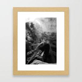 Smoking Sneakers Framed Art Print