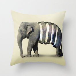 Inner Space Elephant Throw Pillow