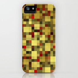 checkered shiny chic, elegant in gold,red and black iPhone Case