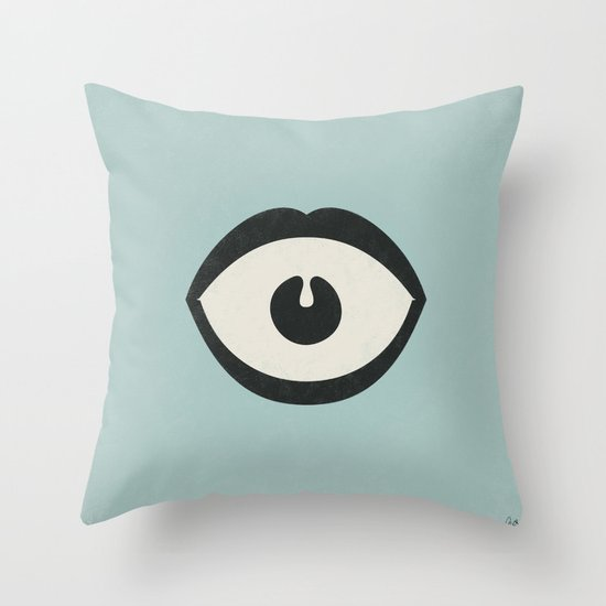 Eye Scream Throw Pillow