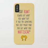 nietzsche iPhone & iPod Cases featuring Hedwig, Kant & Nietzsche by byebyesally