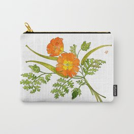 Horned Poppy Carry-All Pouch