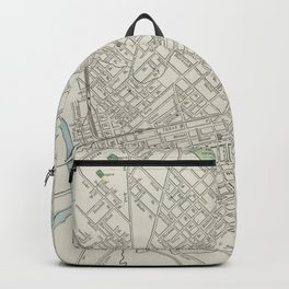 Vintage Map of Dallas Texas (1901) Backpack