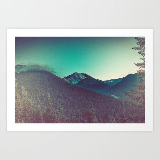 Mt. Olympus in Olympic National Park Art Print