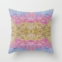 ghost world Throw Pillows featuring Ghost City by datavis/pwowk