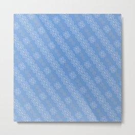 White Lace Pattern Metal Print