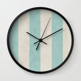 vintage robins egg blue stripes Wall Clock