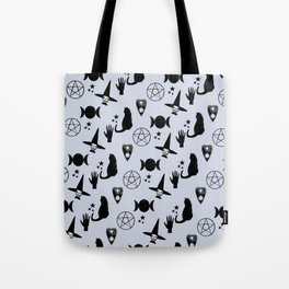 Creepy Cute Halloween Witch Design Tote Bag