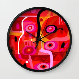 Zacatecas (Red) Wall Clock