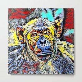Color Kick - Chimp Metal Print