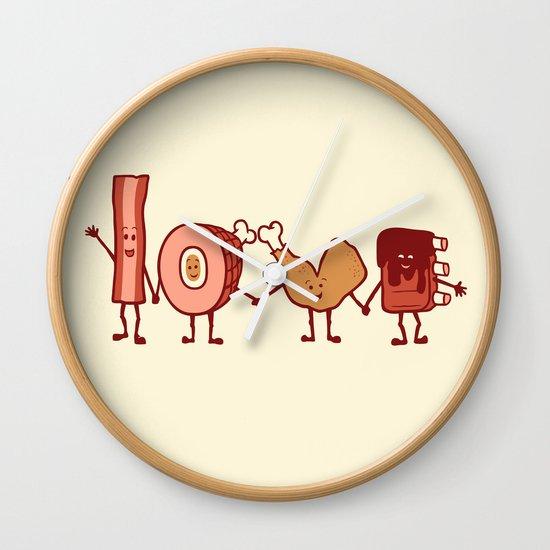 Meat Love U Wall Clock