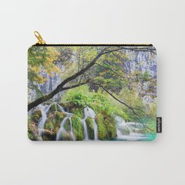 Waterfall in Plitvice Lakes in Croatia Carry-All Pouch
