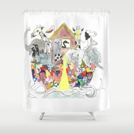 A Patchwork Ark Shower Curtain