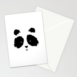 Panda face Stationery Cards
