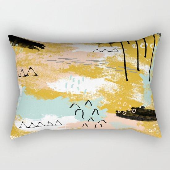 Presence of Life, Abstract Tribal Art Rectangular Pillow