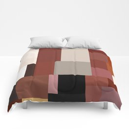 Geometric Art Multicolor Blocks Comforters