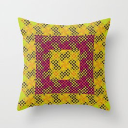 Dot Swatch Equivocated on Chartreuse Throw Pillow
