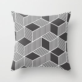 Geometric Cube 02 Throw Pillow
