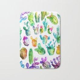 Cactus Rainbow Bath Mat
